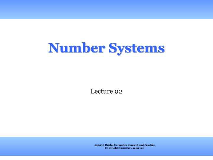 number systems n.