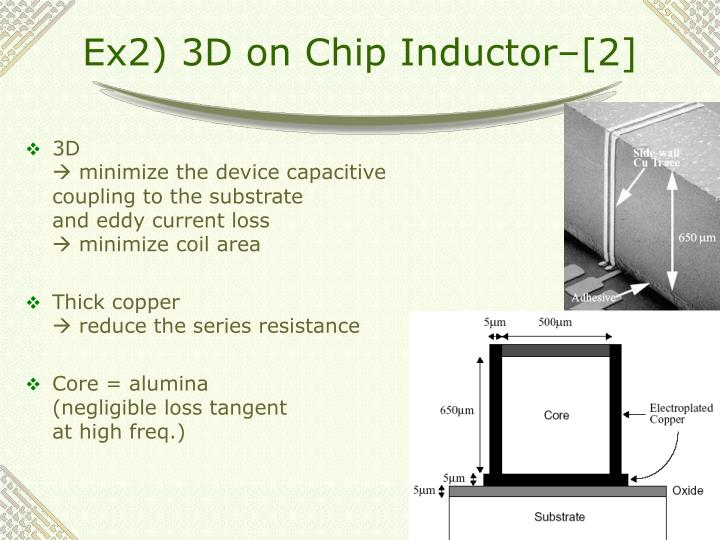 Ex2) 3D on Chip Inductor–[2]