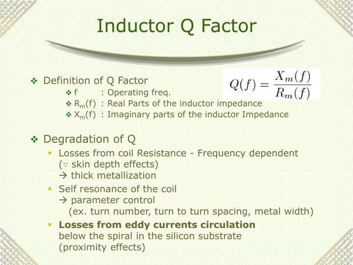 Inductor q factor