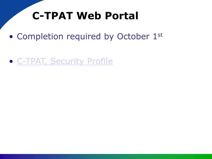 C-TPAT Web Portal