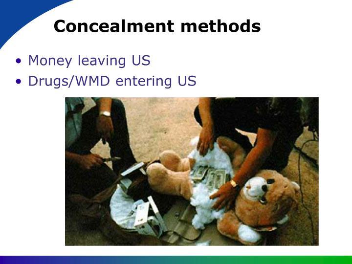 Concealment methods