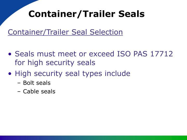 Container/Trailer Seals