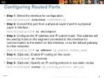 configuring routed ports