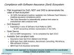 compliance with software assurance swa ecosystem