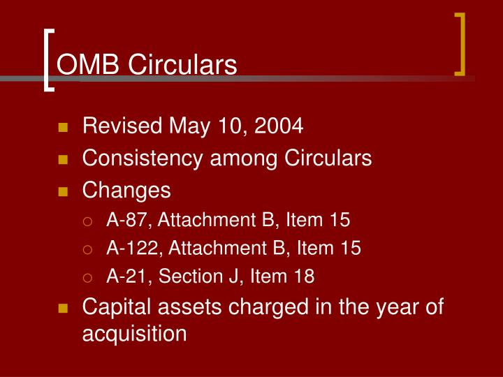 Omb circulars