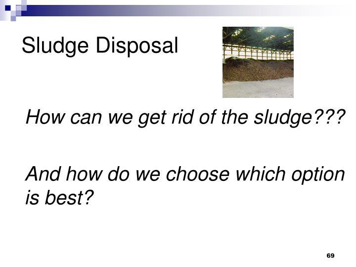 Sludge Disposal