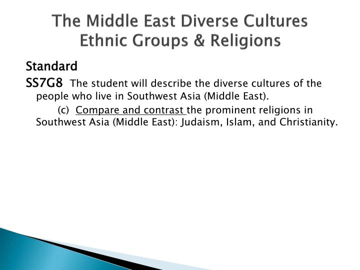 The middle east diverse cultures ethnic groups religions