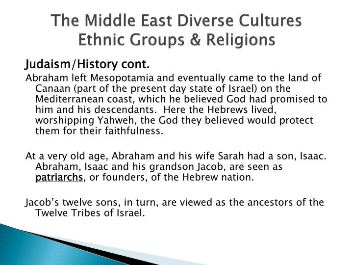 The Middle East Diverse Cultures