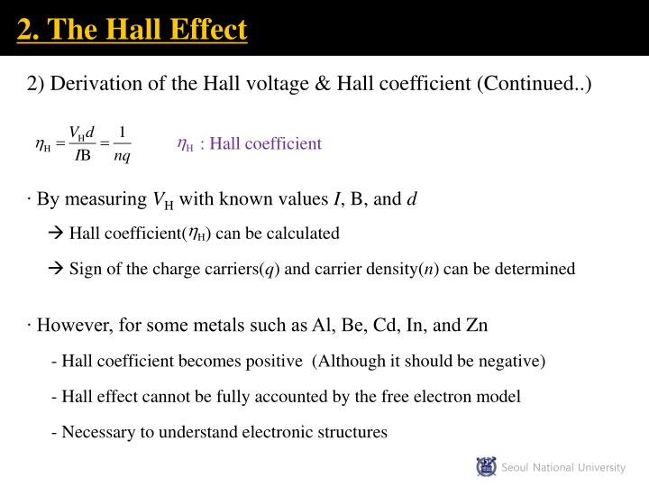 2. The Hall Effect