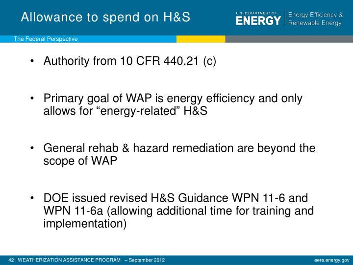 Allowance to spend on H&S