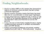 finding neighborhoods