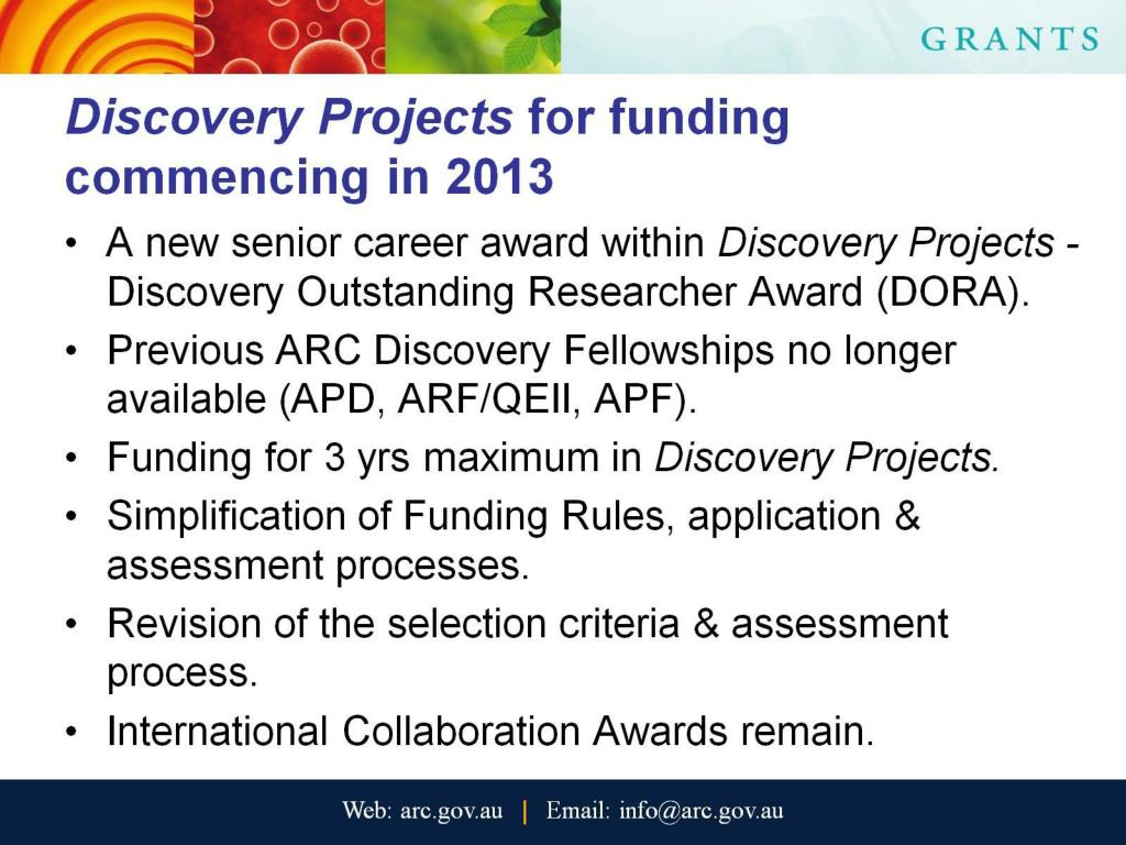 PPT - ARC Schemes including : DP & Discovery Early Career Researcher