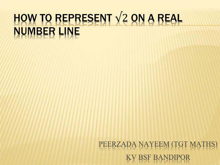 how to represent on a real number line n.