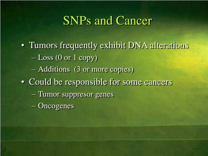 SNPs and Cancer