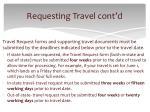 requesting travel cont d