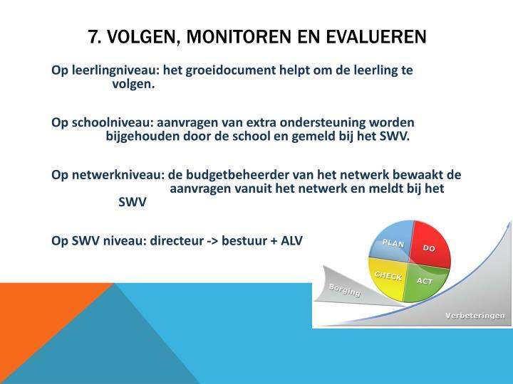 7. Volgen, monitoren en evalueren