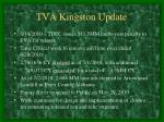 tva kingston update