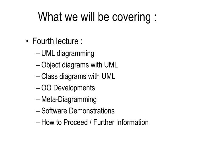 What we will be covering :