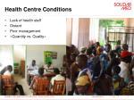 health centre conditions