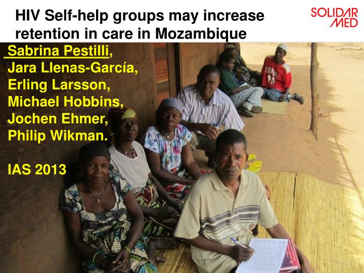 hiv self help groups may increase retention in care in mozambique n.