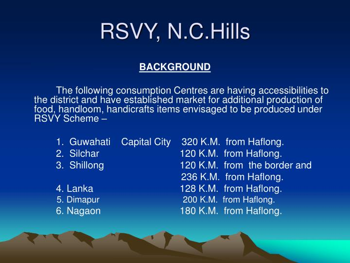RSVY, N.C.Hills