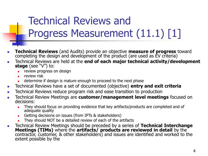 Technical Reviews and