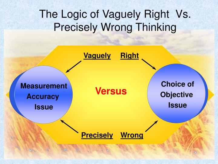The Logic of Vaguely Right  Vs. Precisely Wrong Thinking