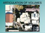 articulation of volumes