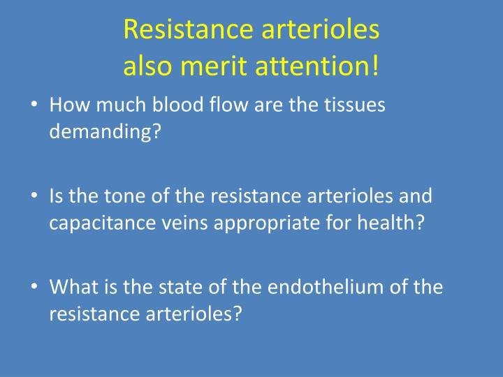 Resistance arterioles