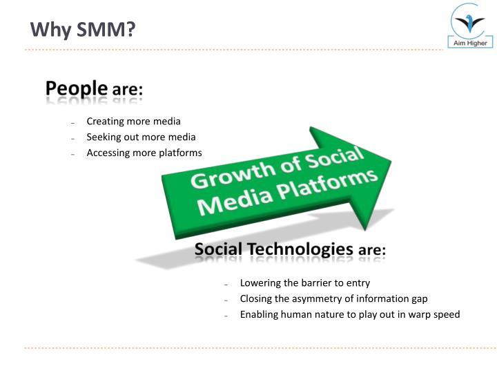 Why SMM?