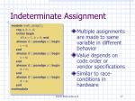 indeterminate assignment