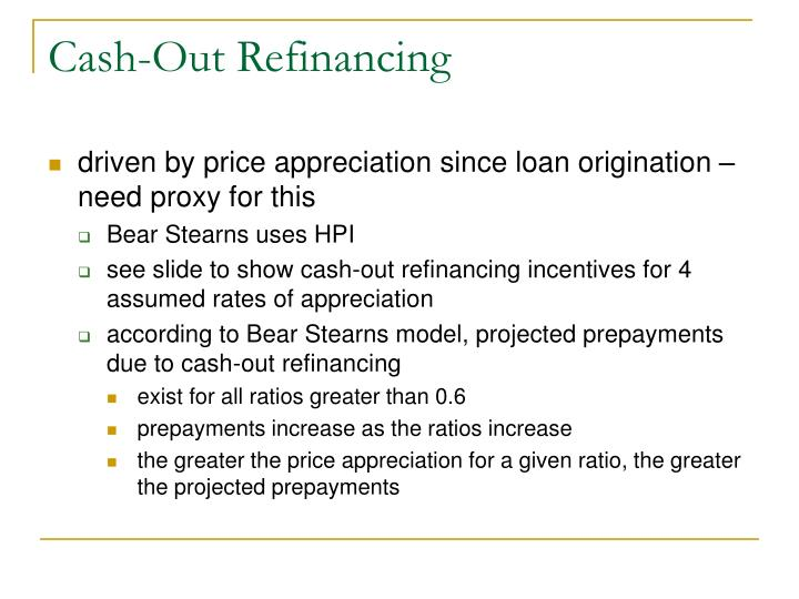 Cash-Out Refinancing