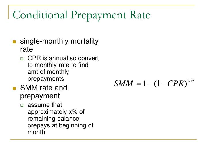 Conditional Prepayment Rate
