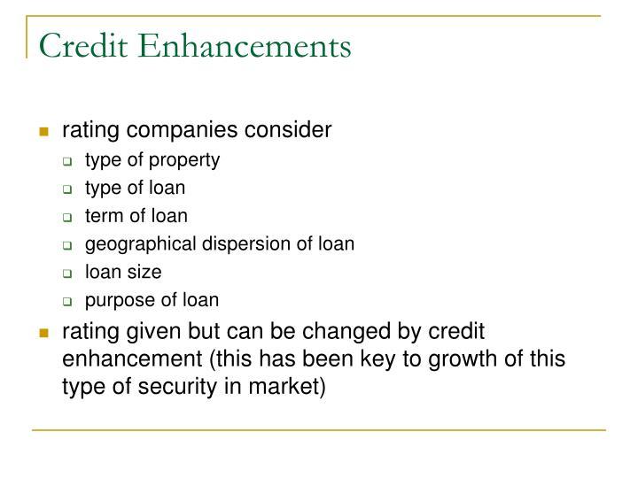 Credit Enhancements
