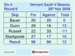 div 4 vermont south v boronia round 9 28 th nov 2009