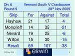 div 6 vermont south v cranbourne round 9 28 th nov 2009