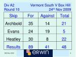 div a2 vermont south v box hill round 10 24 th nov 2009