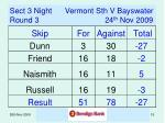 sect 3 night vermont sth v bayswater round 3 24 th nov 2009