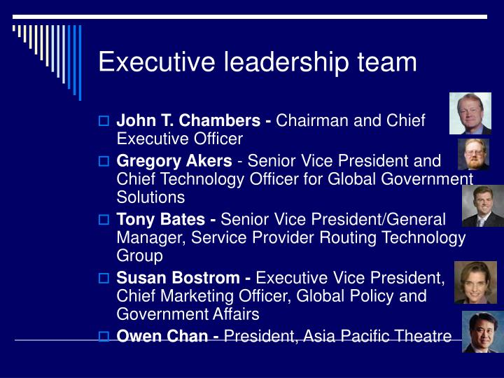 Executive leadership team