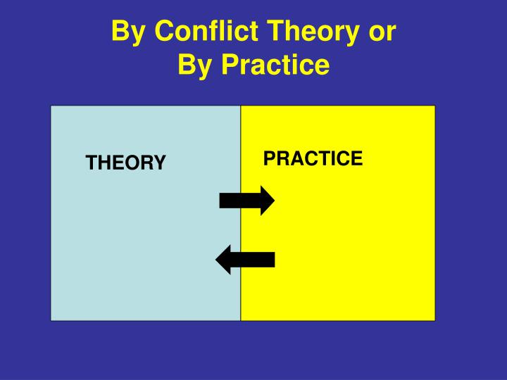 By Conflict Theory or