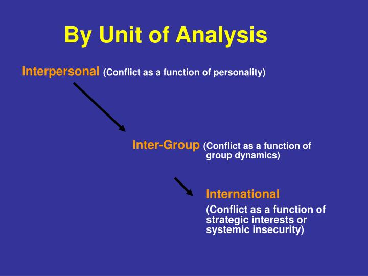 By Unit of Analysis