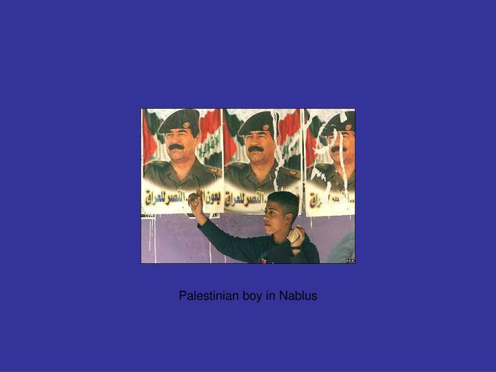 Palestinian boy in Nablus