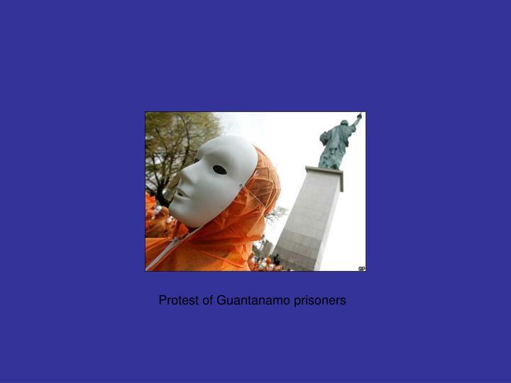Protest of Guantanamo prisoners