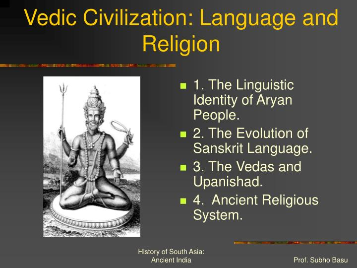 Vedic civilization language and religion