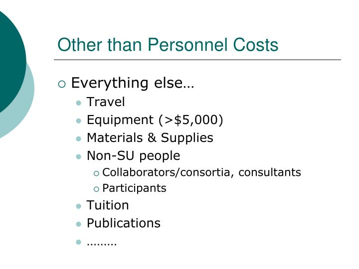 Other than Personnel Costs