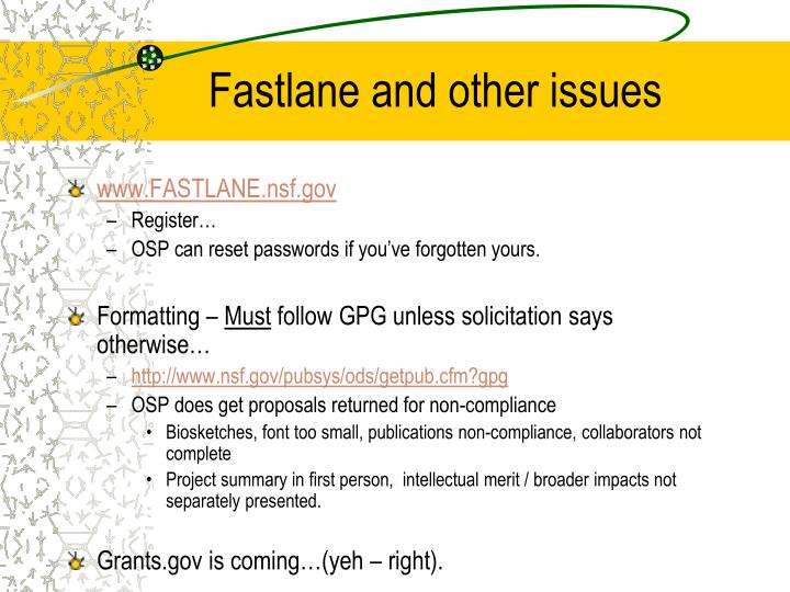 Fastlane and other issues