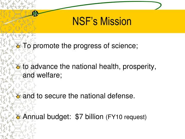Nsf s mission