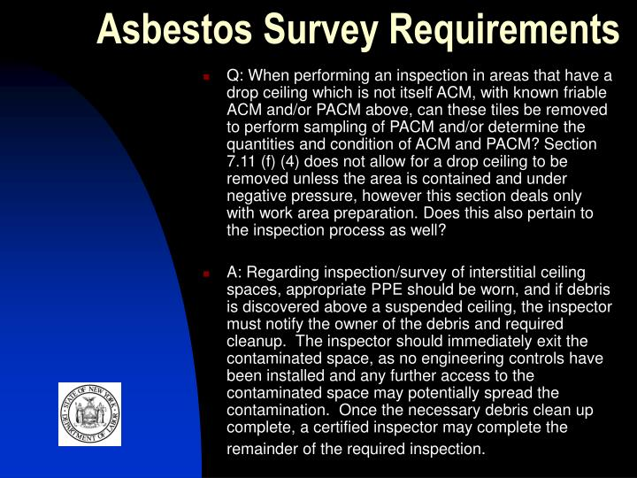 Asbestos Survey Requirements