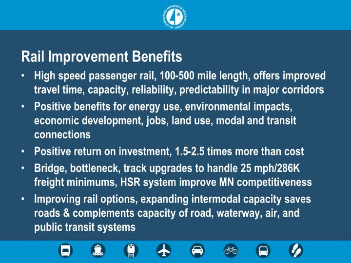 Rail Improvement Benefits
