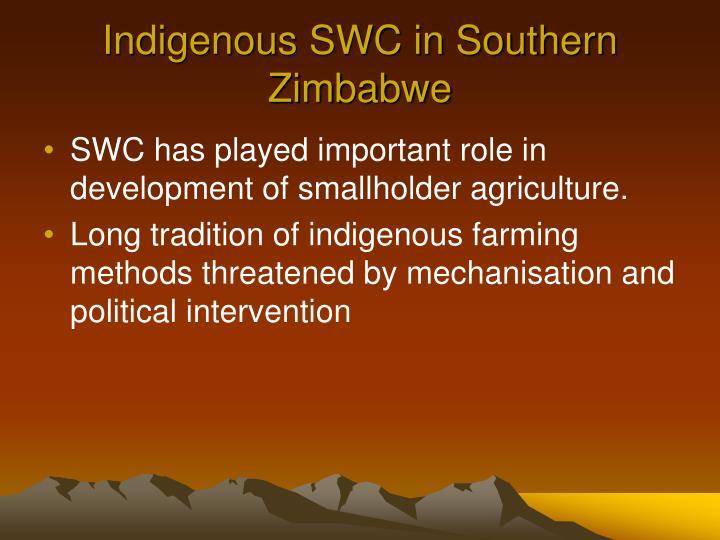 Indigenous SWC in Southern Zimbabwe